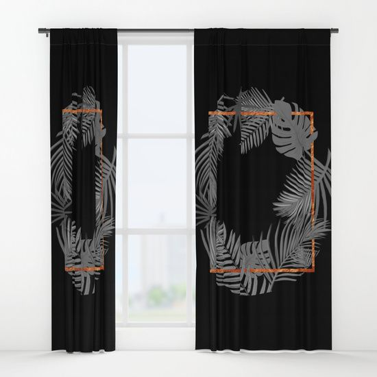 Tropical Square Copper Black And Gray Window Curtains Only At Society6 By Xiari Tropical Black And Grey Curtains Interior Design Trends 2017 Wall Tapestry