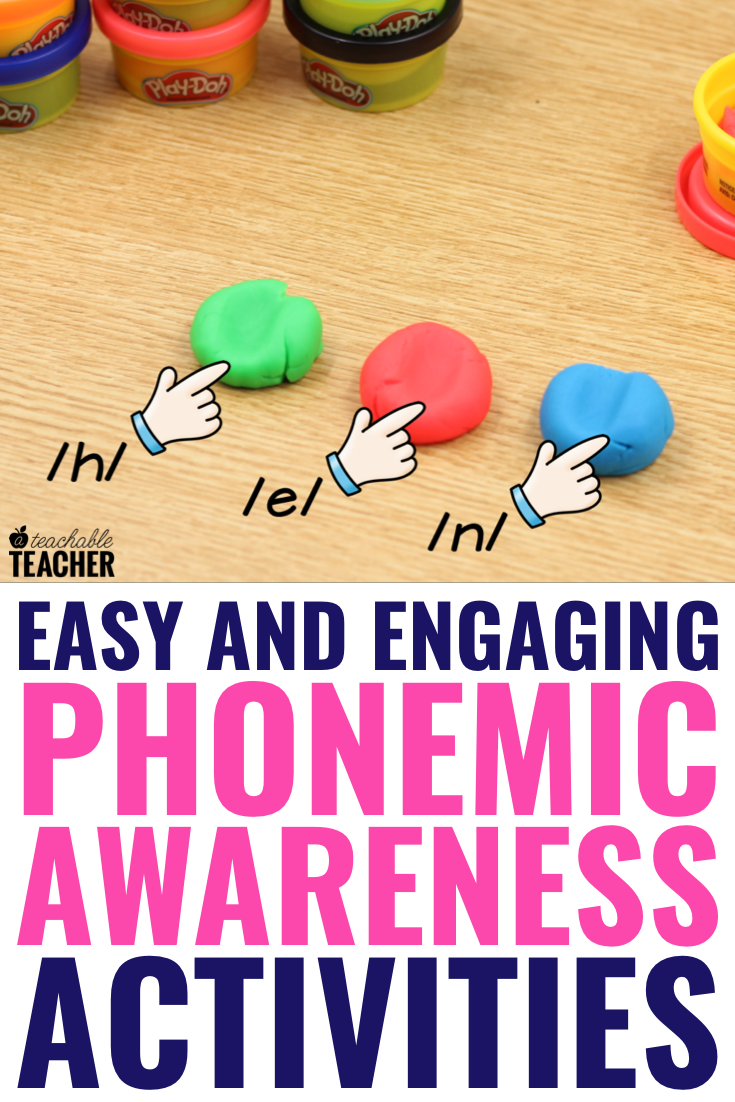 Phonemic awareness can be simple and fun at the same time! Use these free activities with prek, preschool, kindergarten, first grade, 2nd grade students and beyond. These free blending and segmenting activities use materials you probably already have. They are hands on and very engaging!