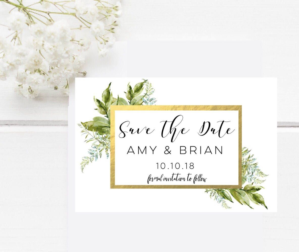 Excited To Share The Latest Addition My Etsy Save Date Magnet Greenery Custom Rustic Wedding