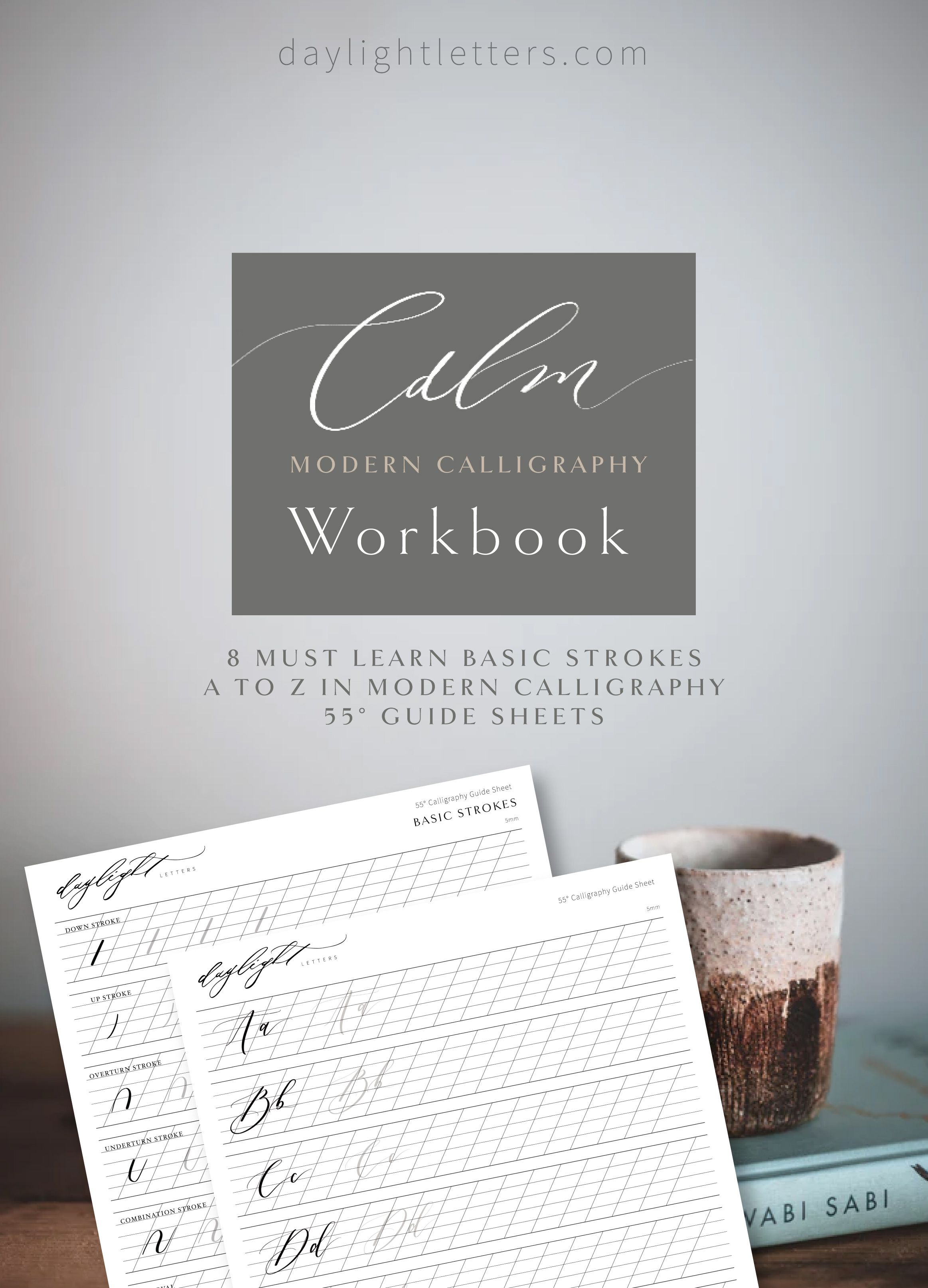 Modern Calligraphy Worksheet Practice Printable