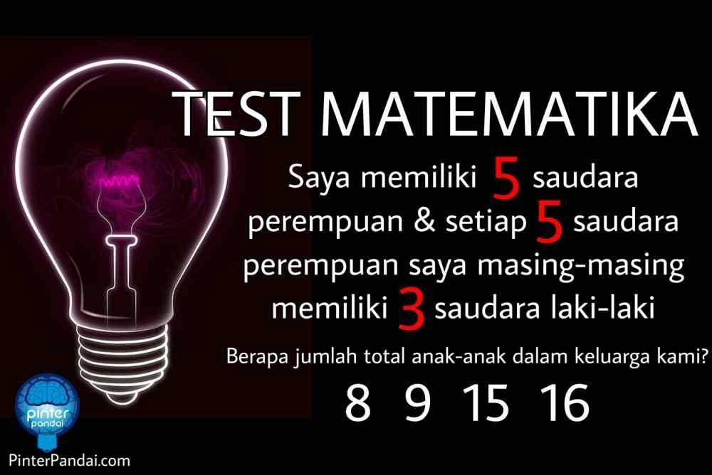 Tes Matematika Jumlah Saudara Tes Matematika Permasalahan Matematika Persaudaraan Saudara Laki Laki