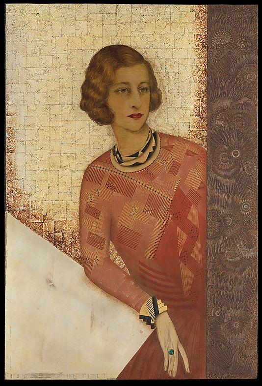 Portrait of Juliette de Saint Cyr, c. 1925, by Jean Dunand (French, 1877-1942).