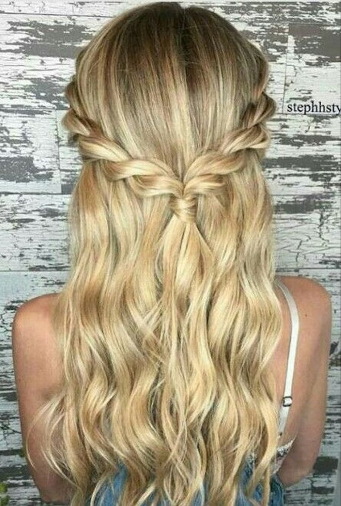 37 beautiful half up half down hairstyles for the modern bride | Long hair styles, Easy ...
