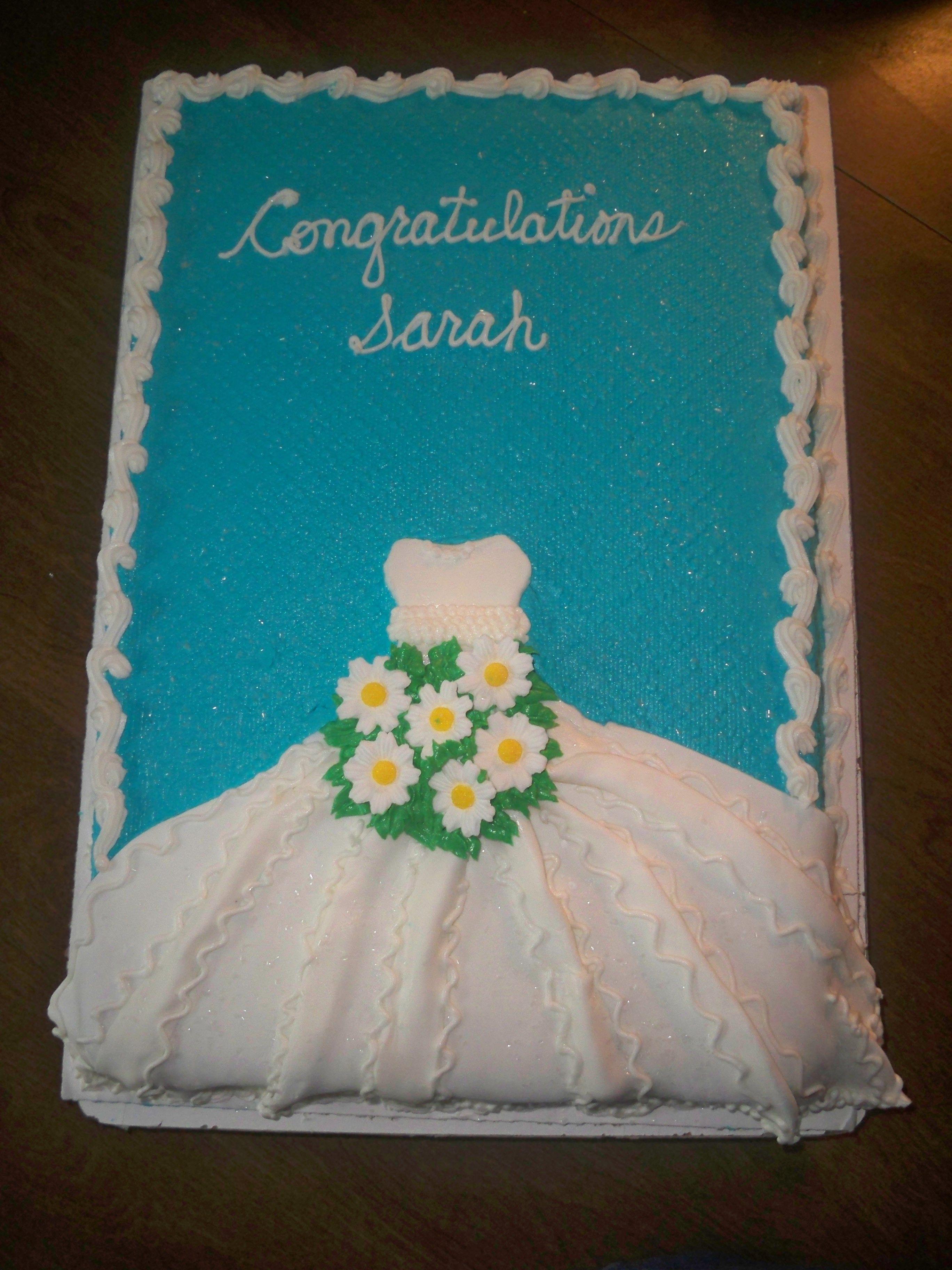 Bridal Shower A Half Sheet Lemon Cake With Strawberry