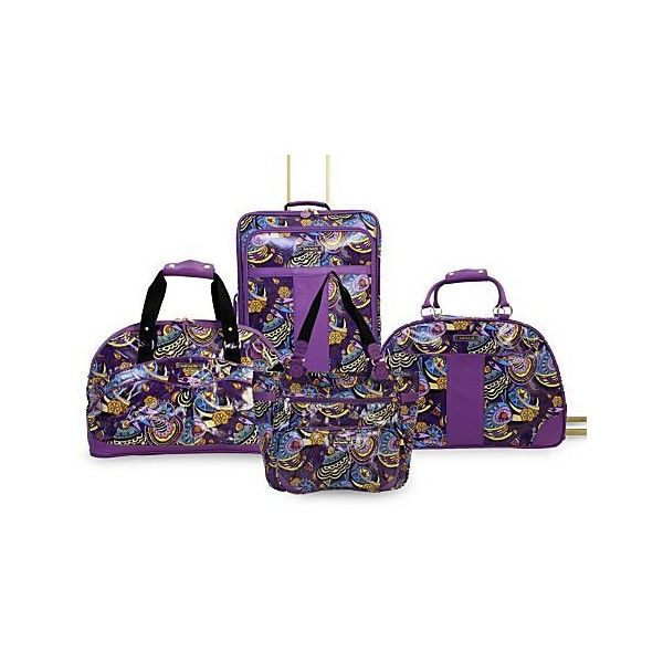 """Product: Double Dutch Club NYC """"Cosmo"""" Purple Luggage ($51) found on Polyvore"""
