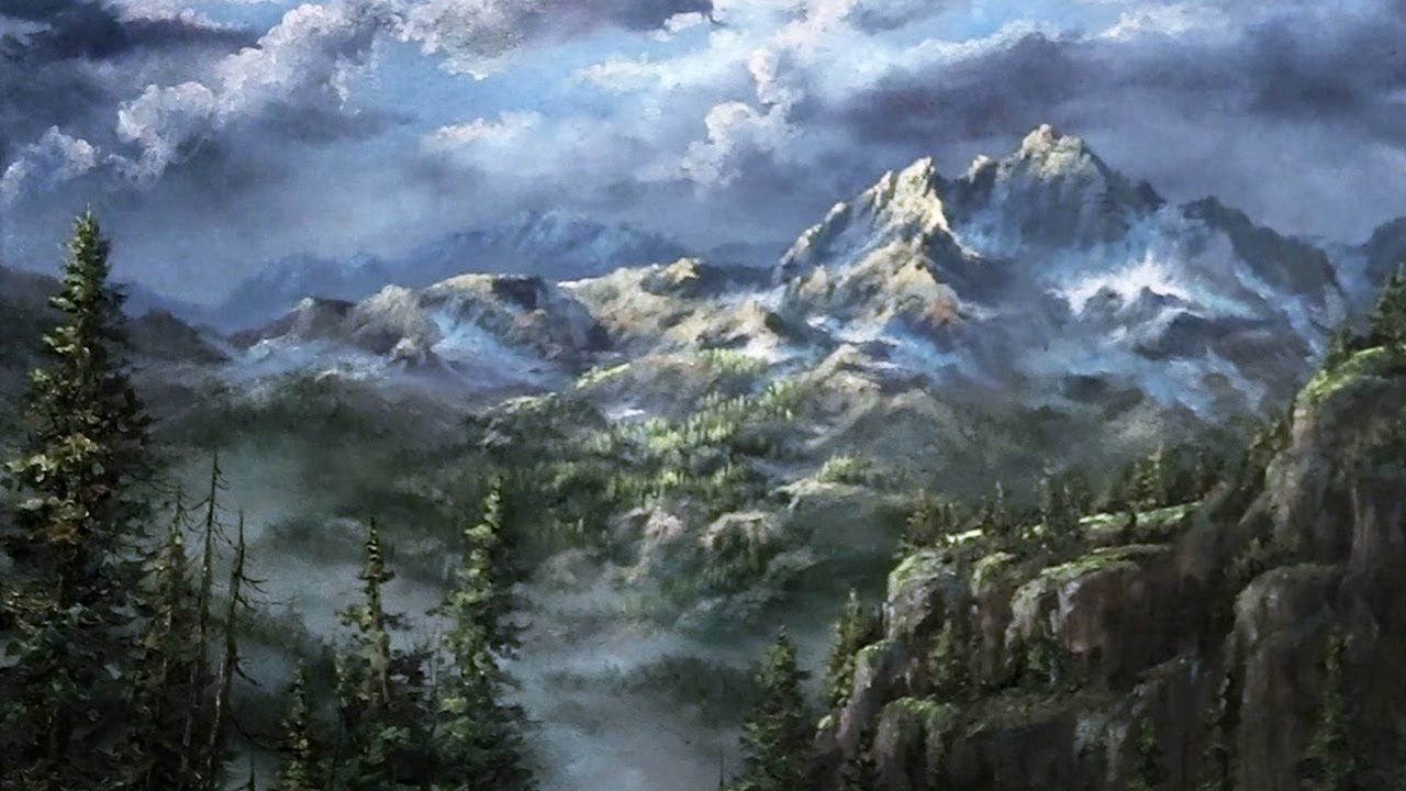 Have You Ever Wanted To Paint A Snowy Mountain Landscape Learn How To Create This Dramati Mountain Landscape Painting Kevin Hill Paintings Landscape Paintings