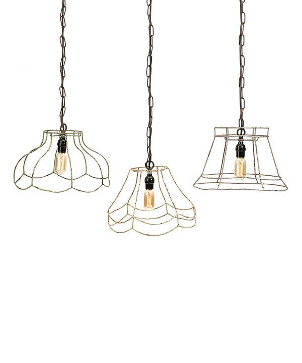 Look At This Crestly Wire Lamp Shade Pendant Light Set On