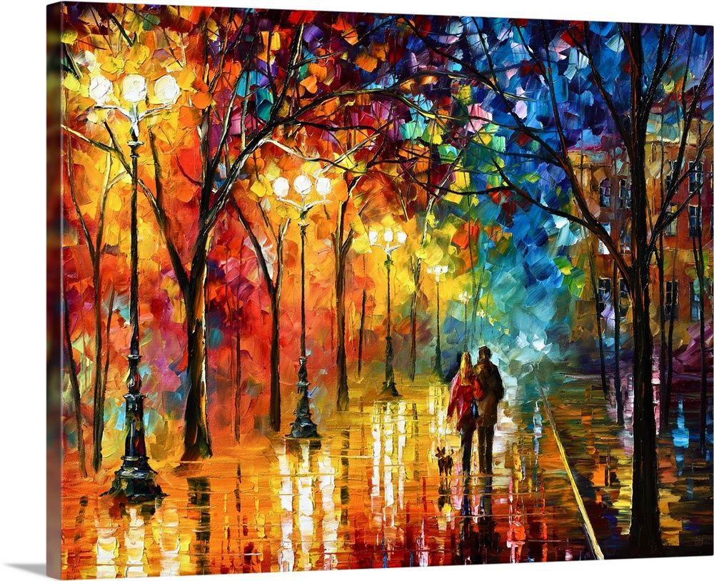 Lake Trees Oil Painting Giclee Art Print Square