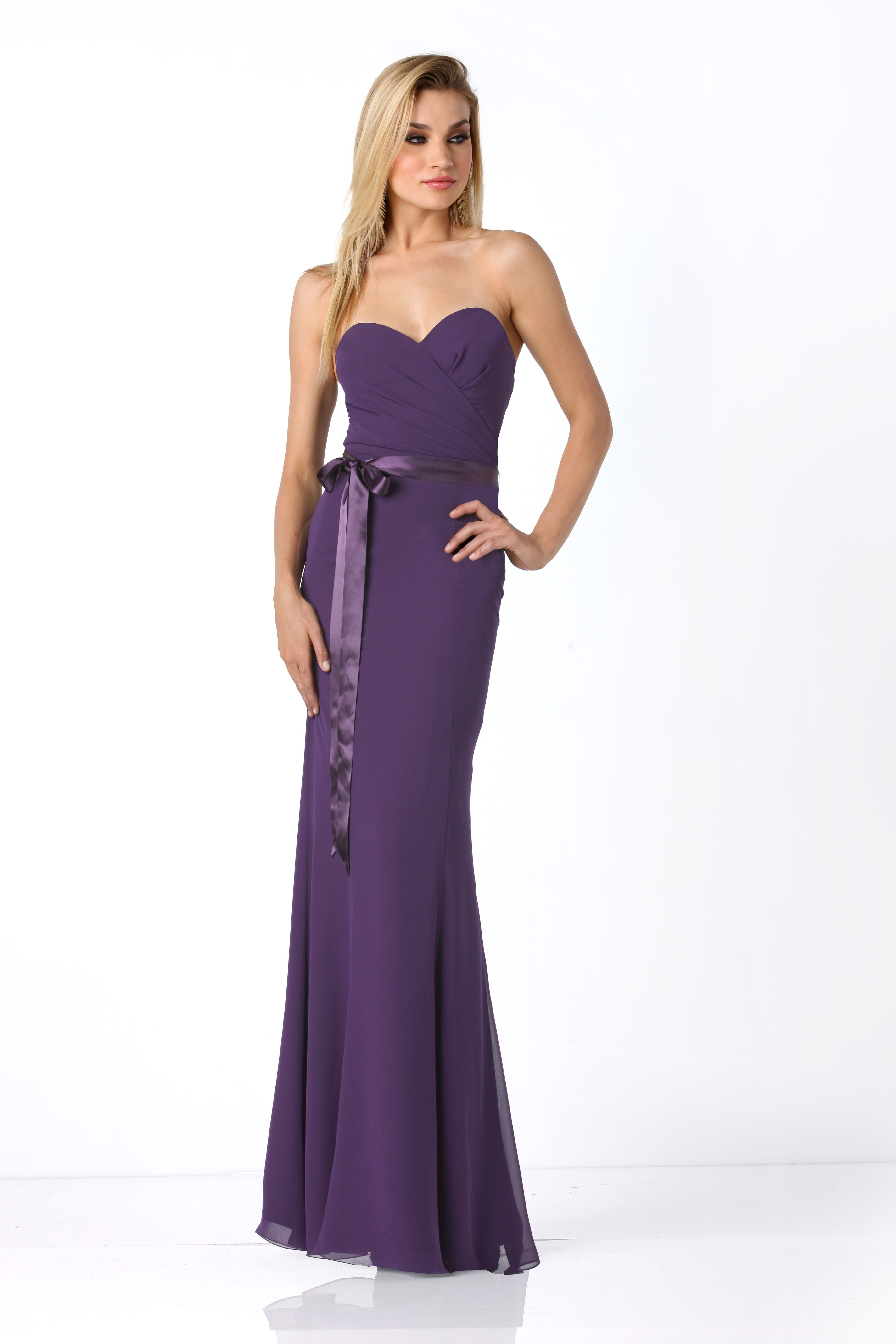 Long purple bridesmaid dresses from @@impressionbride. #wedding ...