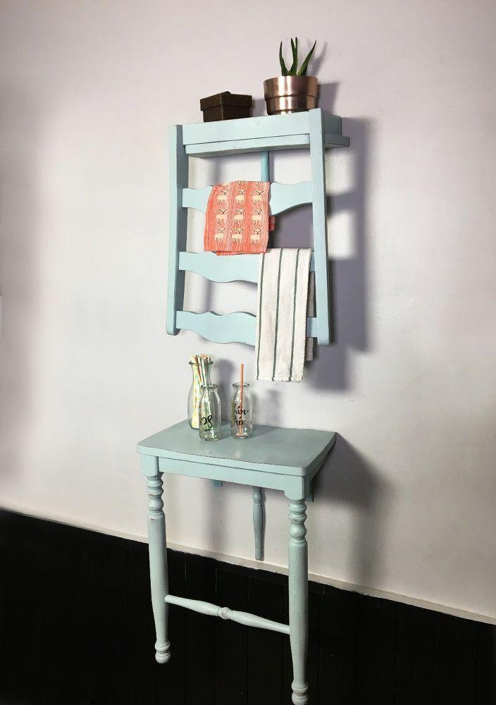 Photo of DIY Chair Turned Shelf