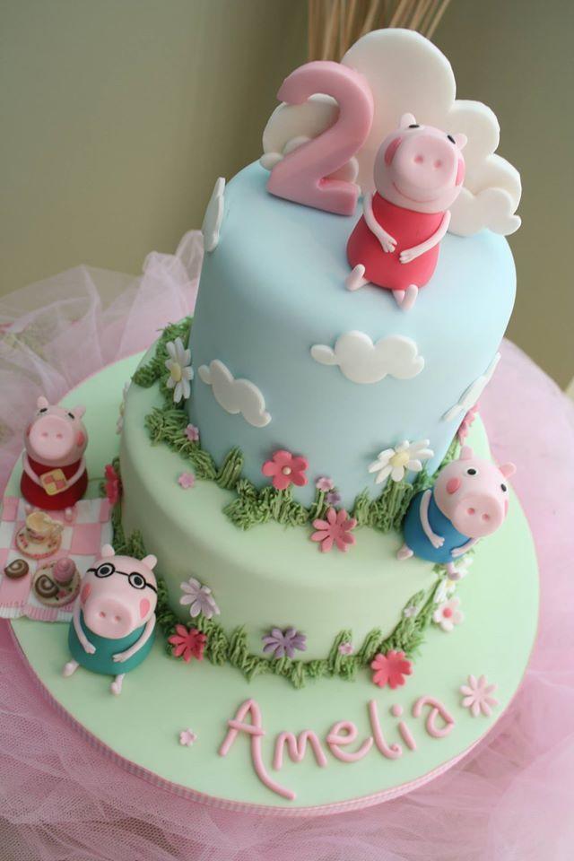 Peppa Pig Birthday Cake Pig Birthday Cakes Peppa Pig Birthday