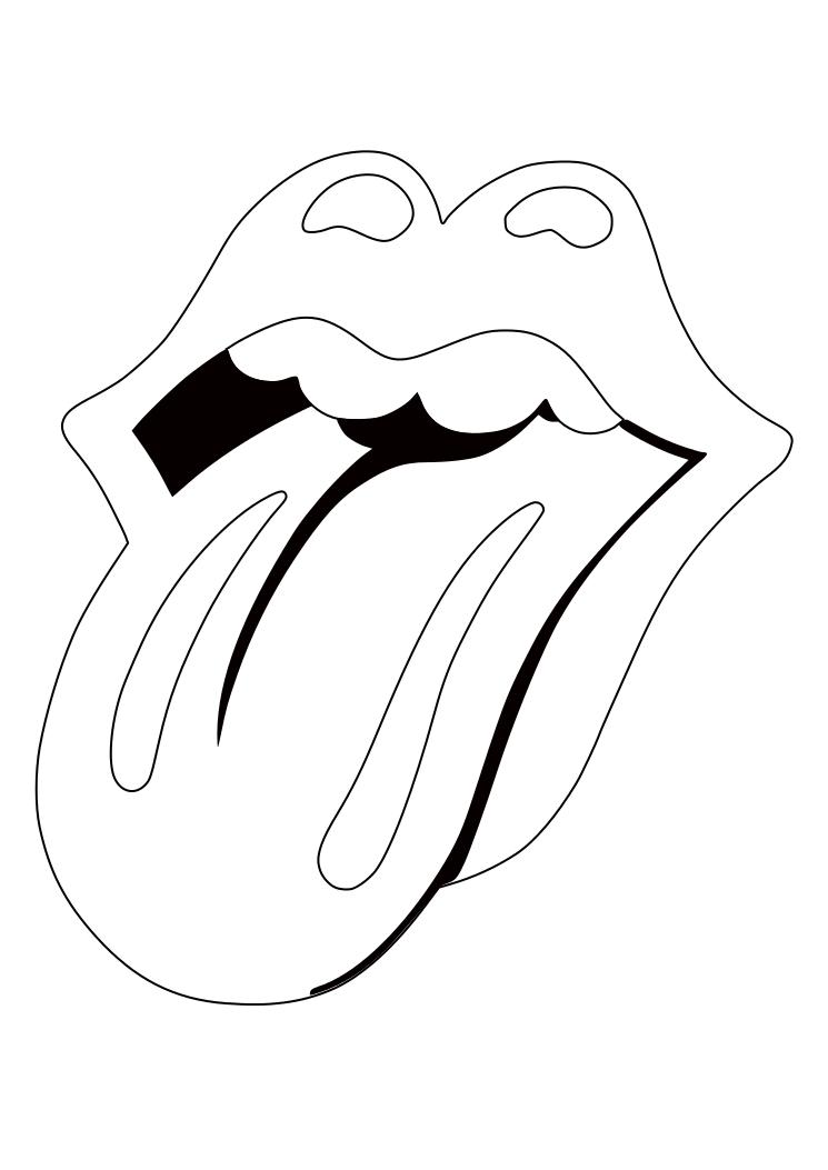 Dibujos Para Colorear Pintar Imprimir Rolling Stone Logo Dibujos Faciles Para Principiantes Dibujos Para Remeras Dibujos Tumblr Para Colorear
