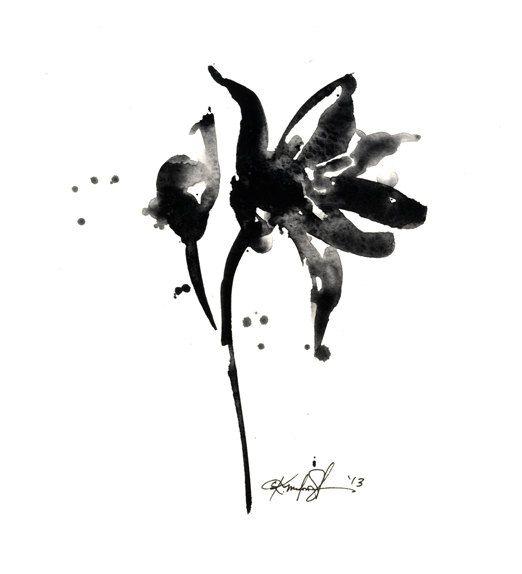 Brushstroke Floral ... Series No.7 ... by KathyMortonStanion