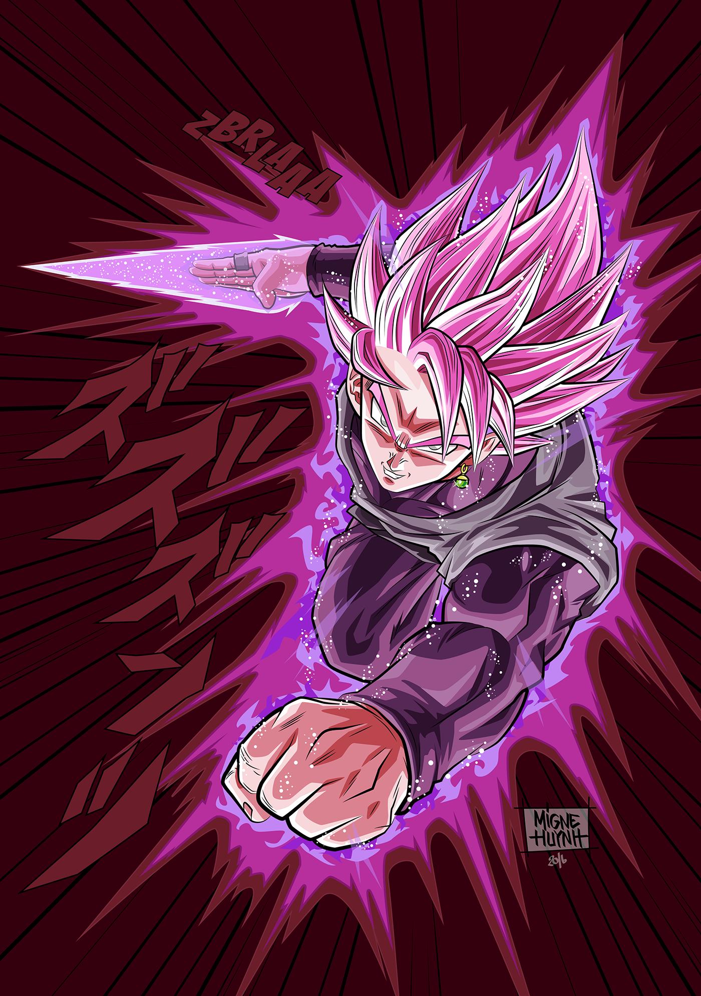 Black Goku Super Saiyajin Rose On Behance Anime Dragon Ball Super Dragon Ball Artwork Dragon Ball
