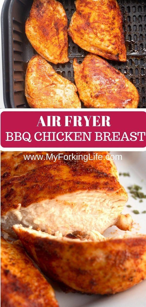 BBQ Air Fryer Chicken Breast - My Forking Life