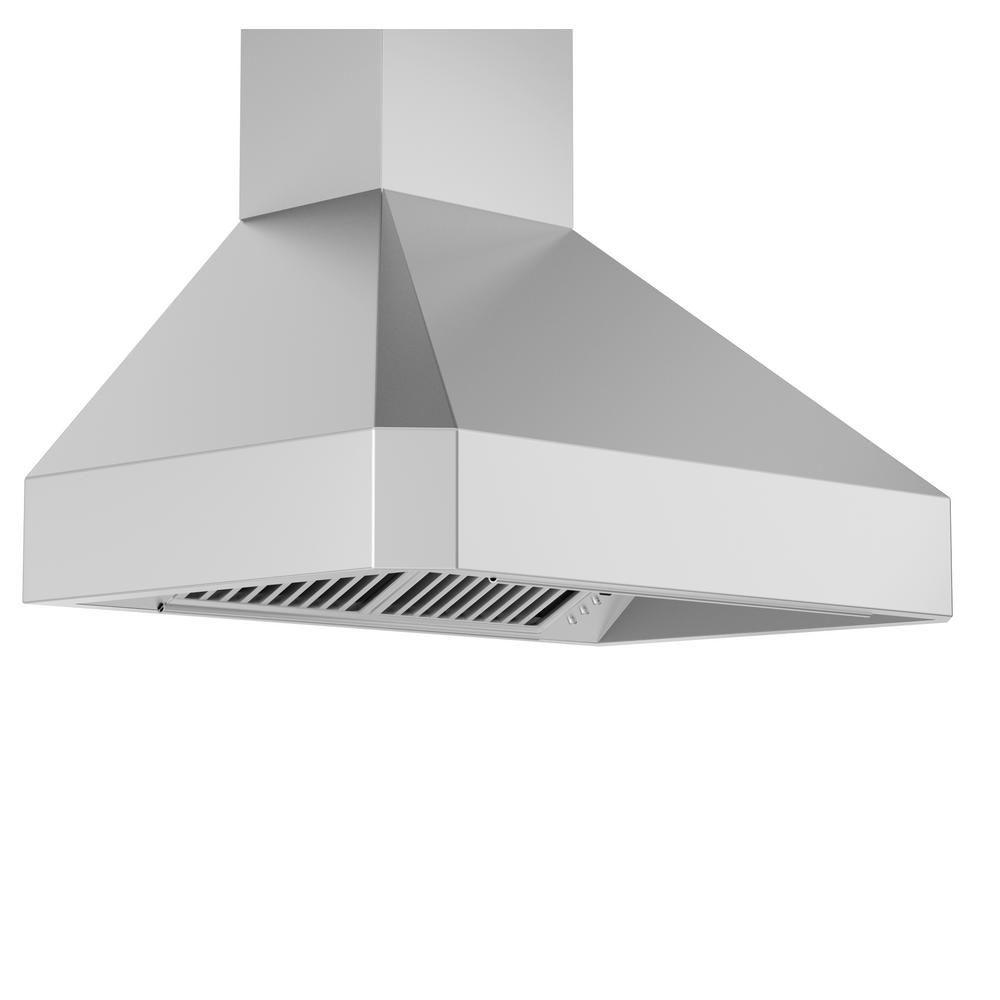 Zline Kitchen And Bath Zline 36 In Wall Mount Range Hood In Stainless Steel 455 36 455 36 The Home Depot In 2021 Wall Mount Range Hood Stainless Steel Range Hood Range Hood