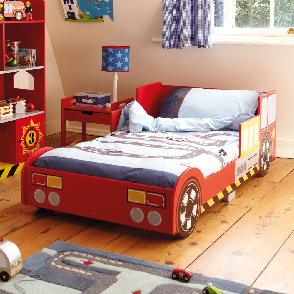 Fire engine toddler bed oscarus room pinterest fire engine