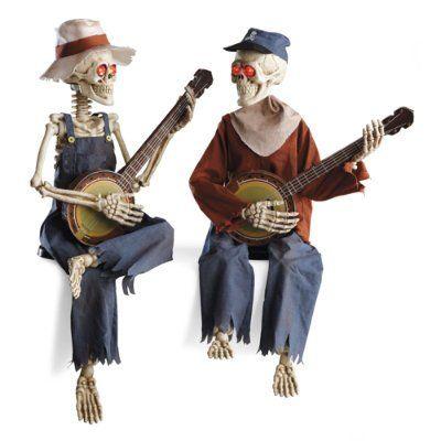 Amazon Com Interactive Dueling Banjo Skeletons Halloween