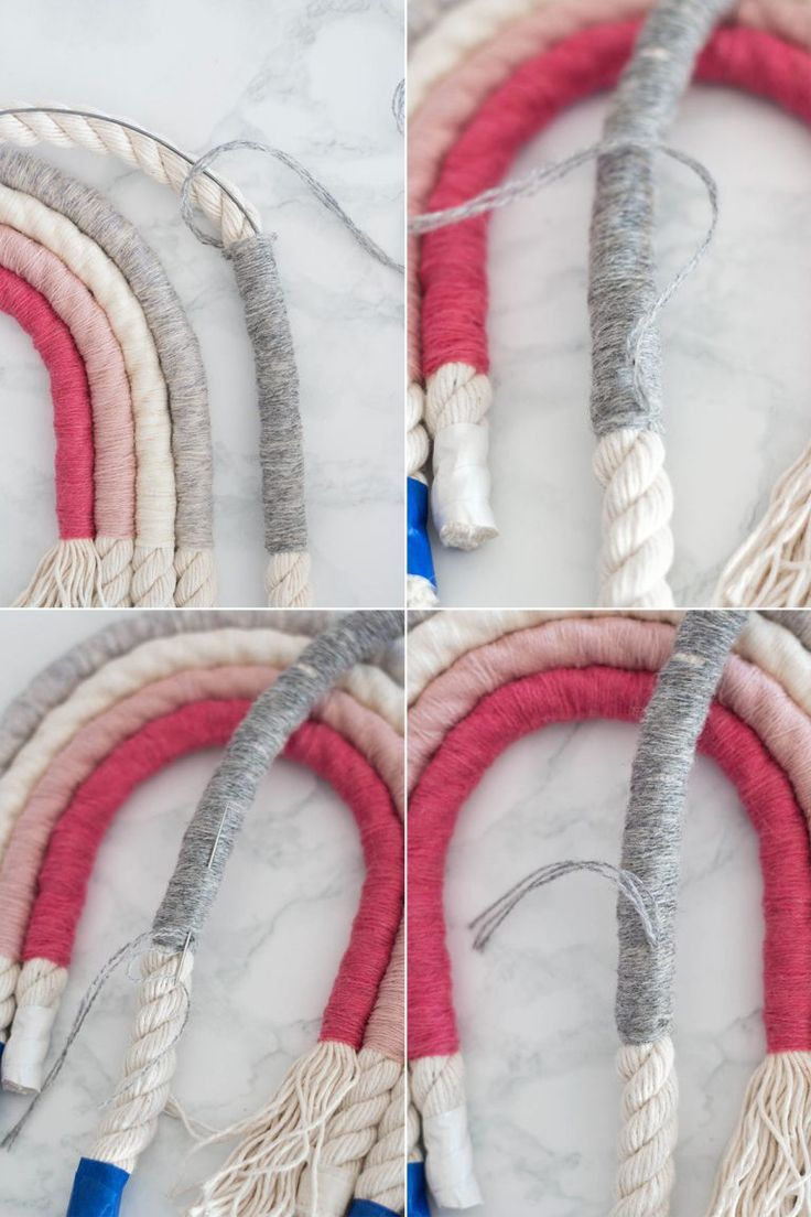 Rope rainbow wall hanging DIY - mypin