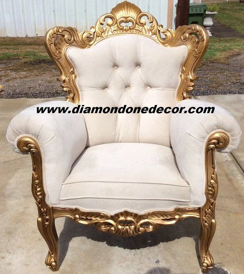 Baroque Ivory Velvet Victorian Louis Xv French Reproduction Rococo Chair