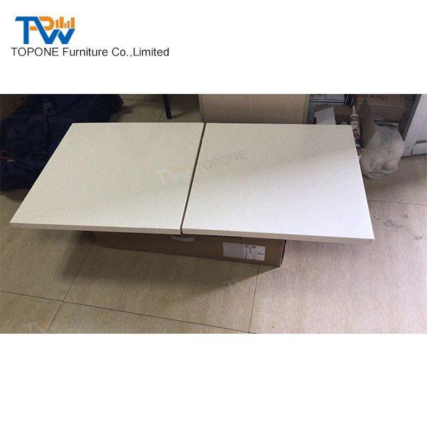 Artificial Marble Stone White Square Restaurant Furniture Table Tops - Restaurant table tops for sale