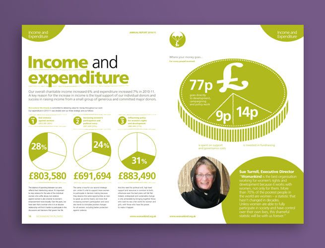 Income and Expenditure | Charity Annual Report Infograhics ...