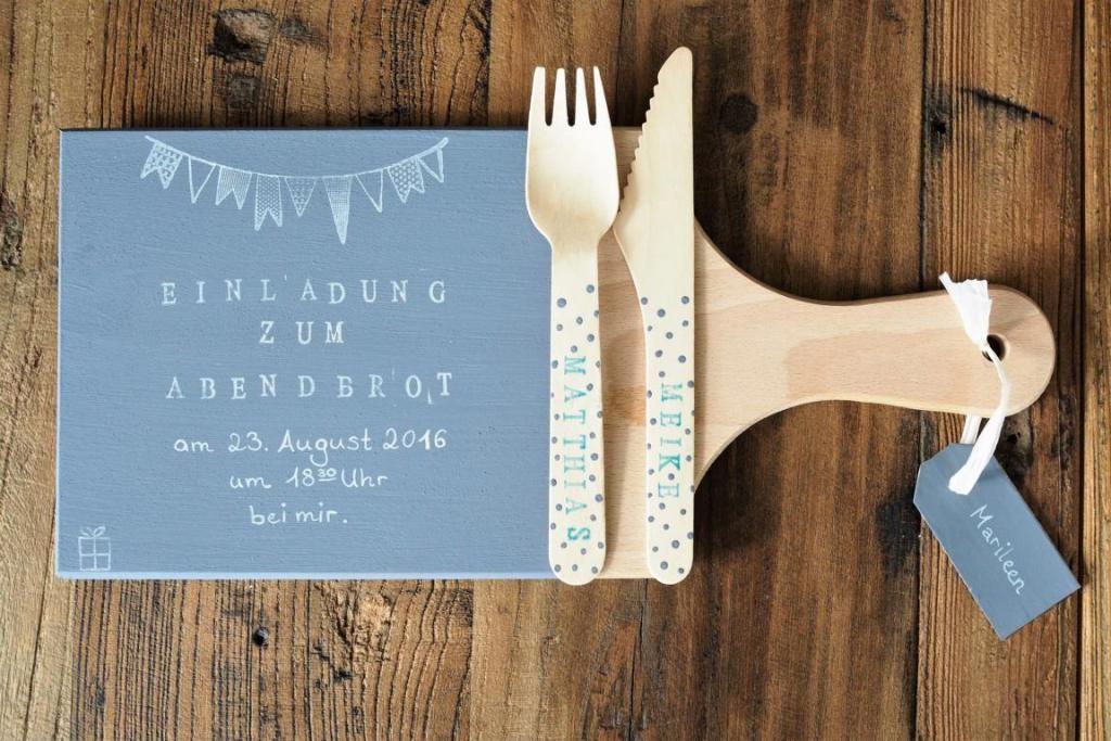 Diy Einladungen Zum Abendessen Gutschein Basteln