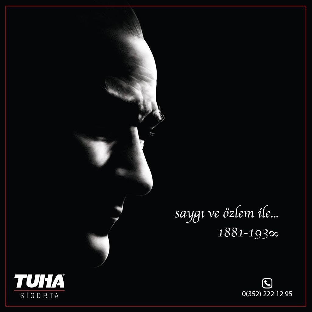Mustafa Kemal Atatürk'ü Rahmetle Anıyoruz... 🇹🇷🇹🇷🇹🇷 #10kasım #10kasim1938 🇹🇷🇹🇷🇹🇷 #tuhagrup #tuhasigorta #tuhayapı #kayseri #kayserispor #sigorta #kasko #trafiksigortasi #dask #işyerisigortası #konutsigortasi #tamamlayıcısağlıksigortası #dask #sağlıksigortası #insurance