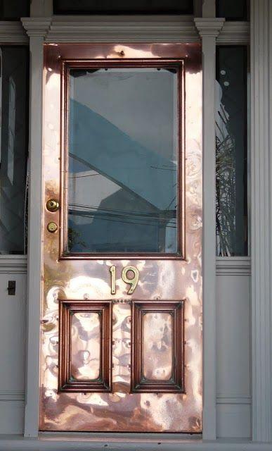 Doors Design: What?!! Oh, My, Love This Copper Door!!