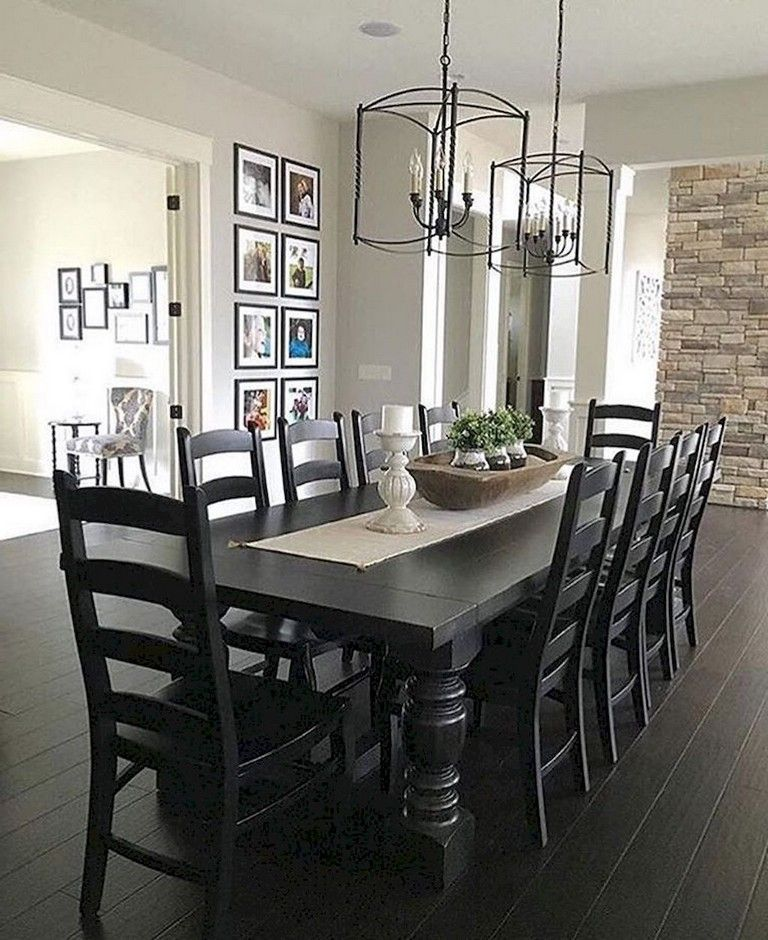 30 Best Farmhouse Table Dining Room Decor Ideas: 50+ Long Lasting Modern Farmhouse Style Dining Room Design