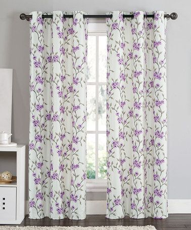 Look What I Found On Zulily Purple Rebecca Curtain Panel Set Of Two Zulilyfinds Panel Curtains Curtains Purple Living Room