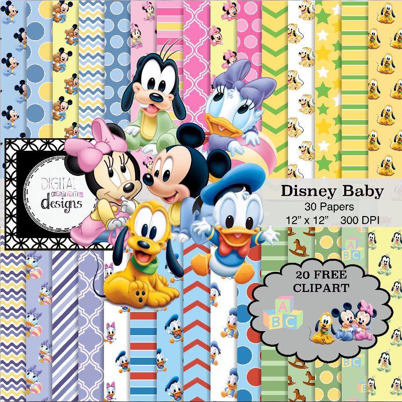 Disney Baby Digital Paper Pack