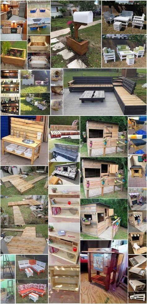 Awesome DIY Ideas for Wood Pallets Repurposing #recyceltepaletten