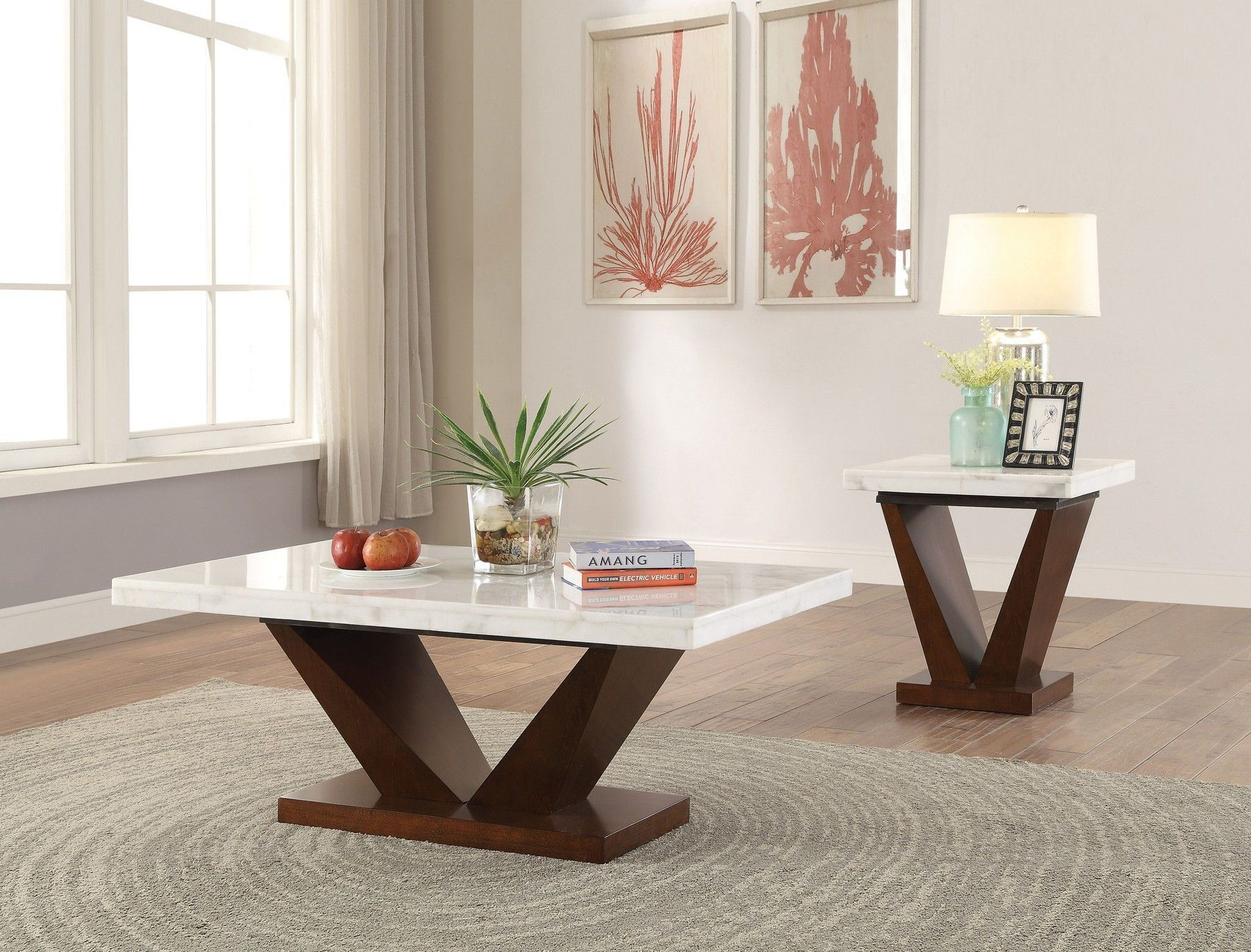 Forbes Coffee Table 83335 Acme Corporation Coffee Tables Coffee Table Marble Top Dining Table Living Room Table Sets