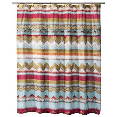 Boho Boutique Zazza Pleated Shower Curtain To Hide The Washer In