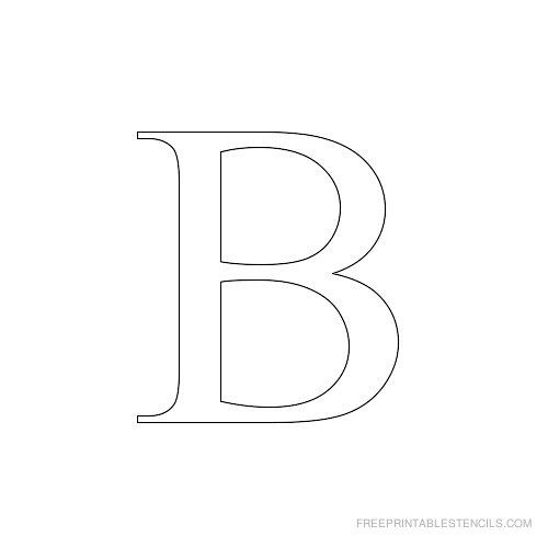 Printable Times New Roman Alphabet Stencil B Alphabet Stencils Free Stencils Printables Free Printable Letter Stencils