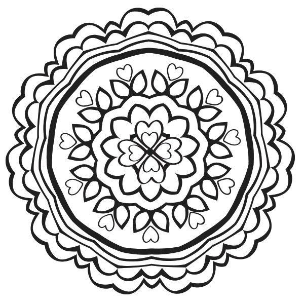 Heart Mandala Coloring Page Free Adult Coloring Pages