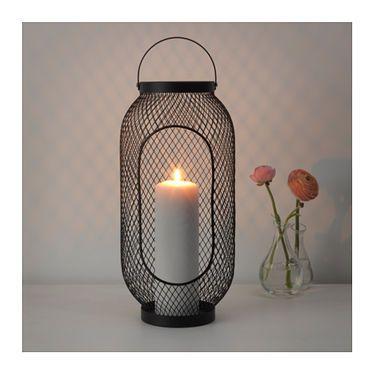 TOPPIG Lantern for block candle Black IKEA