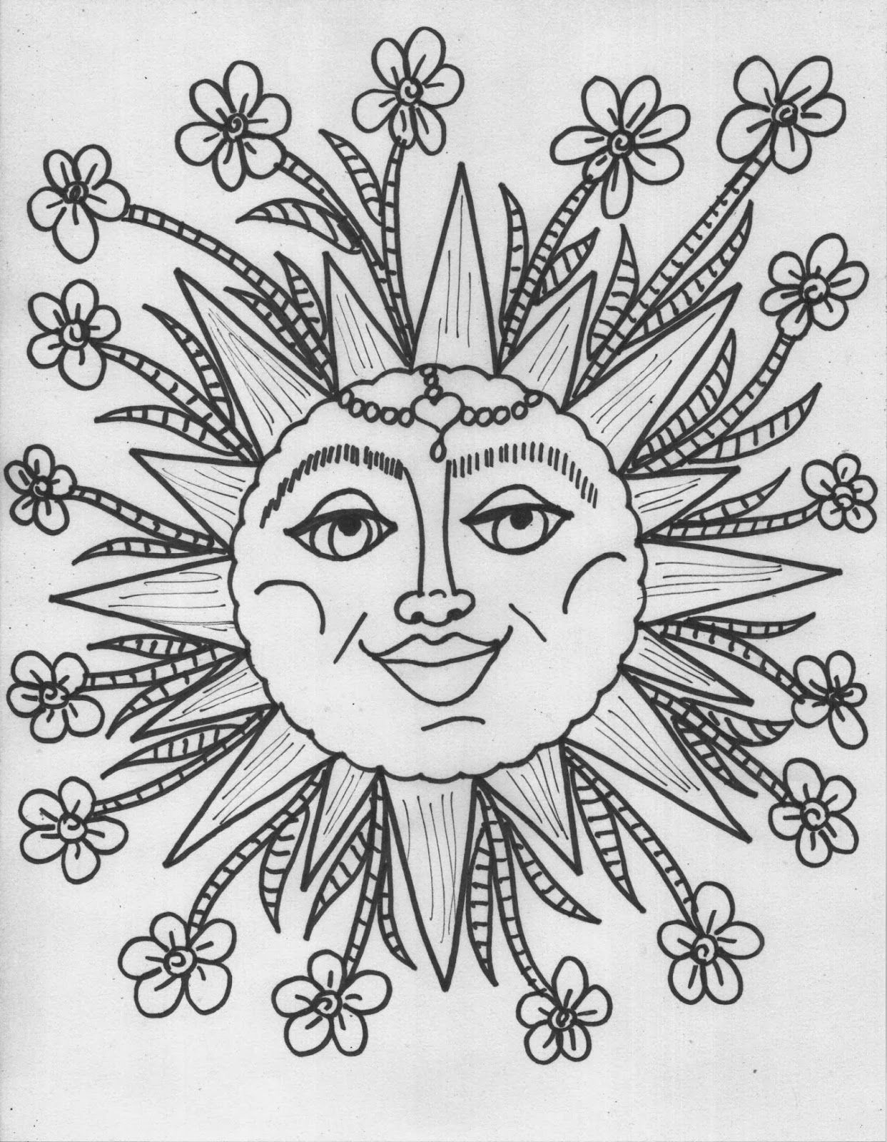 Hippie Coloring Pages Free Coloring Pages Download | Xsibe stoner ...