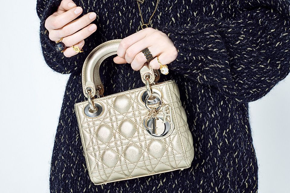The Lady Dior Light Gold 7b72f3eb9d1c0
