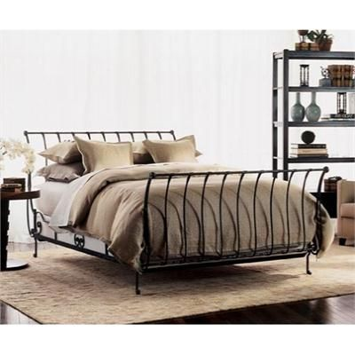 Single bed in Black Heart Model Iron and Gold Ivory and Gold