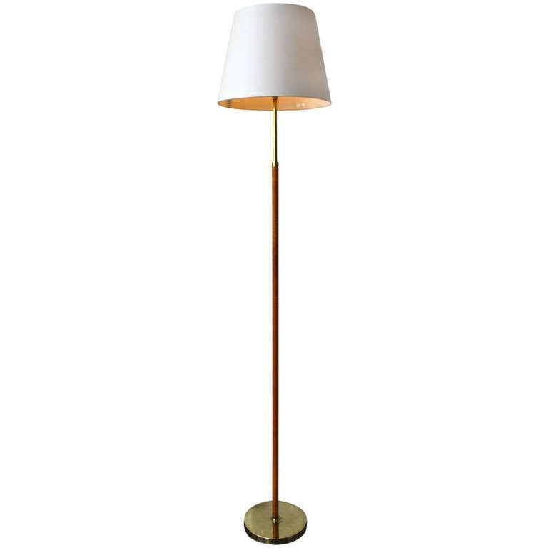 Vintage 1950s Brass And Leather Floor Lamp From A Unique Collection Of Antique And Modern Floor Lamps At Http Www 1stdi Floor Lamp Lamp Modern Floor Lamps