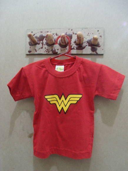000e27c065 Camiseta Infantil Mulher Maravilha De 2 até 8 anos 100% algodão R ...