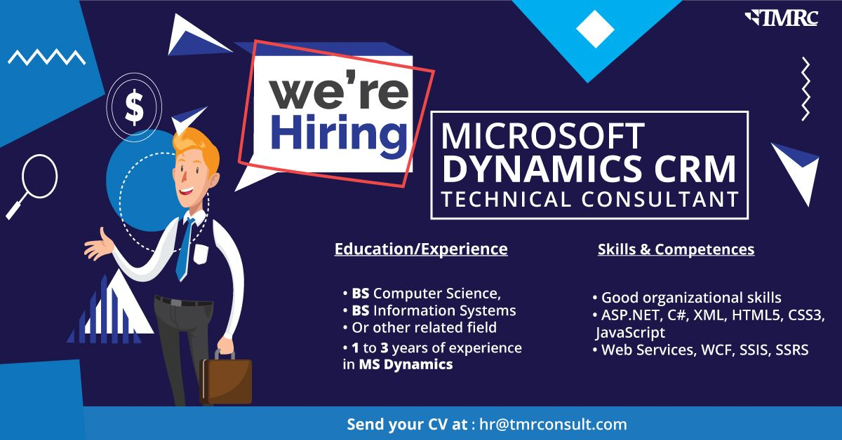 Microsoft Dynamics CRM Technical Consultant in 2020