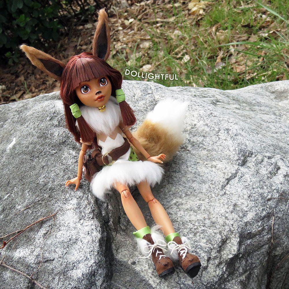Pokemon Eevee custom OOAK doll by Dollightful