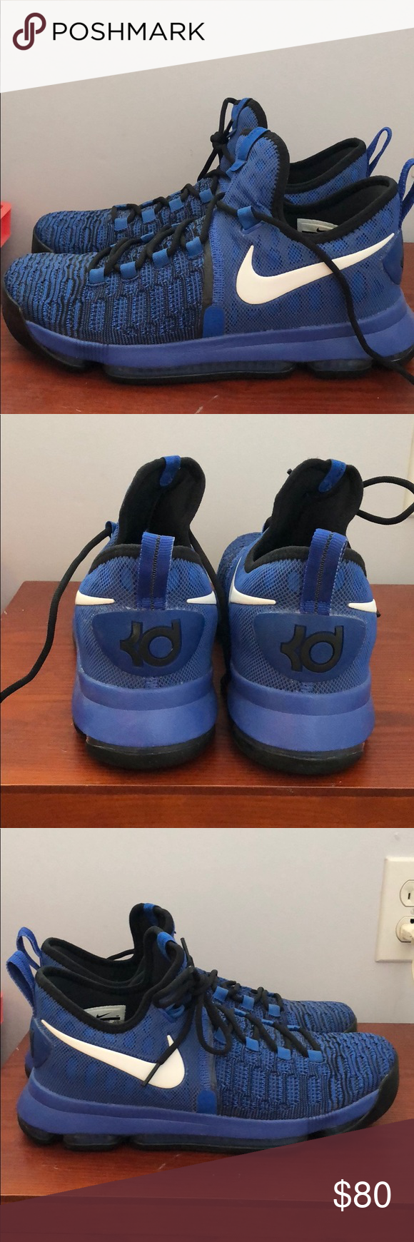 best cheap b0368 349d3 Nike Kevin Durant shoes NIKE Kevin Durant shoes blue, size 9.5, barely worn Nike  Shoes Sneakers