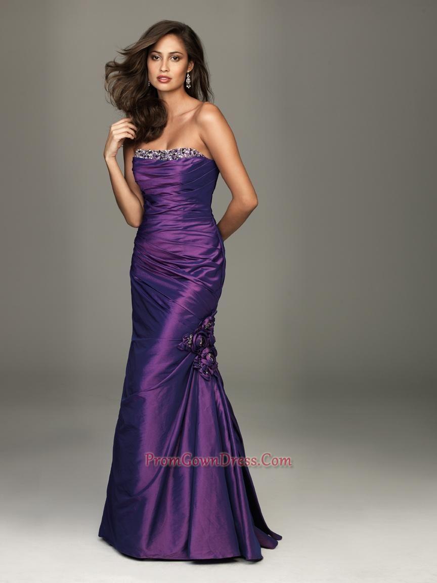 Perfect dark purple strapless column beading fashion pinterest