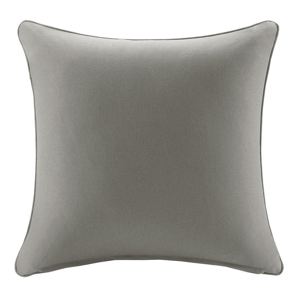 Madison Park 3m Scotchgard Outdoor Medium Throw Pillow Grey