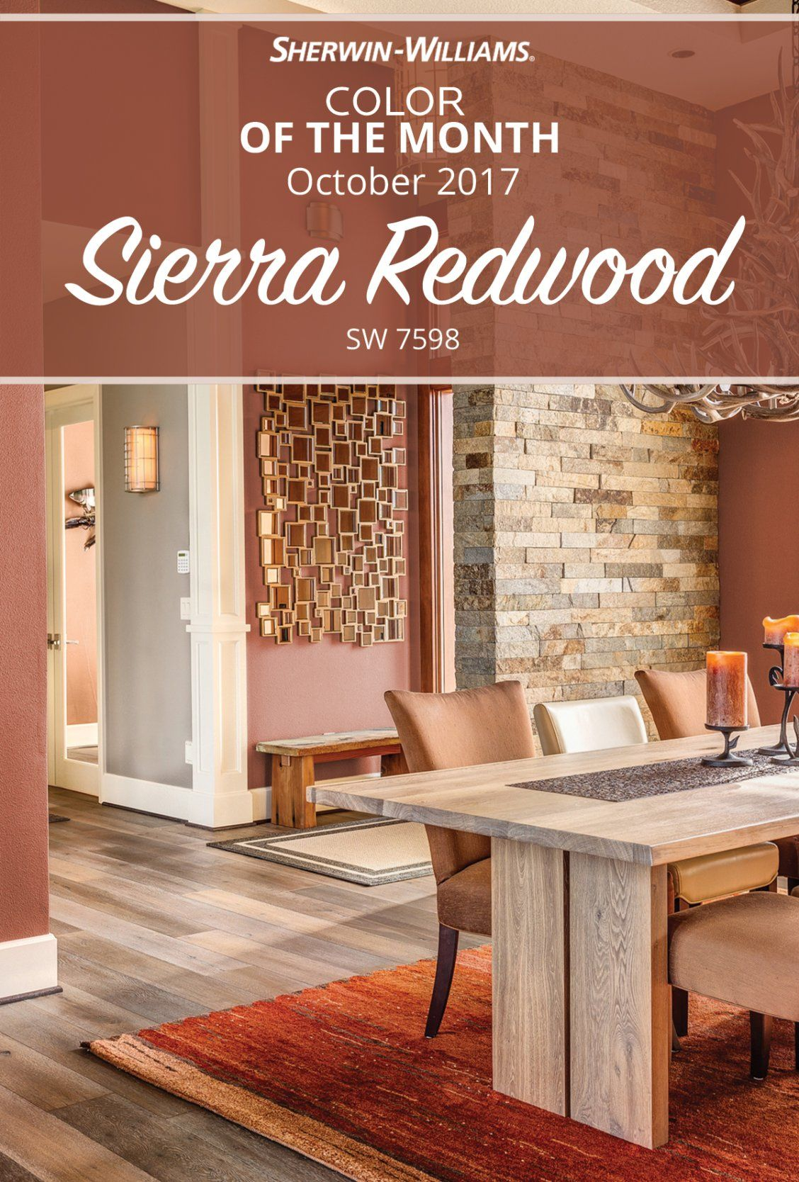 Deep Rich And Mesmerizing The October Color Of The Month 2017 Draws Us In With Its Earthy Warm Sherwin Williams Paint Colors Bright Paint Colors Paint Colors