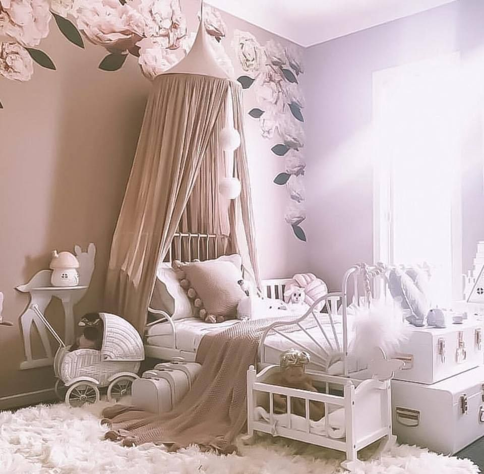 Dusty Peony Wall Decals in 2020 | Girls bedroom furniture ...